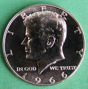 1966 SMS JFK Half Dollar 40% Silver Kennedy 50 Cent Coin frm US Special Mint Set