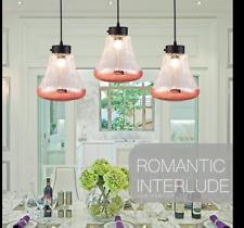 3x Modern Loft Glass LED Chandelier Pendant Fixture Ceiling Light Hanging Lamp