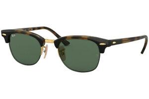 RAY-BAN CLUBMASTER Sunglasses RB4354 710/71 Light Havana W/ Dark Green Lens