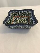 Polish Pottery Fluted Dip/Appetizer Stoneware Bowl G. CH. 191