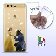 Huawei P10 Plus CASE COVER PROTETTIVA TRASPARENTE Disney La Bella e la Bestia