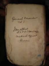INDIA RARE AND VERY OLD - HAND WRITTEN DIARY WITHOUT DATES IN ENGLISH
