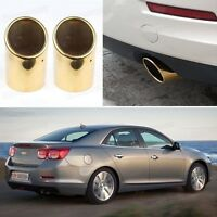 2Pcs Golden Tailpipe Exhaust Muffler Tail Pipe Tip for Chevrolet Malibu 2013-14