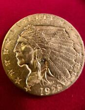 1929 INDIAN QUARTER EAGLE GOLD $2.50 COIN ,Almost Uncirculate