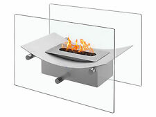 Verona White - Ventless Tabletop Bio Ethanol Fireplace, Ignis Portable Fireplace