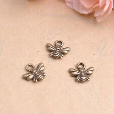 50/100Pcs Tibetan Silver Bee Charm Pendant Jewelry Findings  Free Ship #87