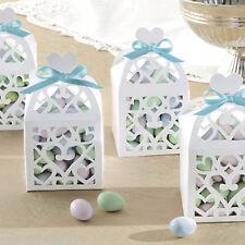 50 Elegant White Lantern Wedding Engagement Party Gift Favour Boxes