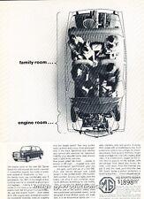 1963 MG Sports Sedan Original Advertisement Print Art Car Ad J660