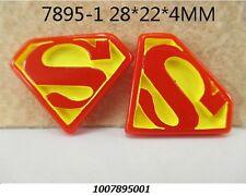 5 x SUPERMAN 27 mm Resina Piatto Indietro Abbellimenti FASCE Fiocchi Card Making