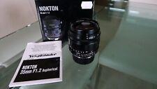 Voigtlander Nokton Aspherical 35mm f/1.2 (V.1) lens. MINT and BOXED