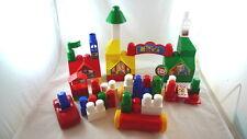 185 Assorted MEGA BLOKS Building Toy Pre-School Learning Car Buildings Village
