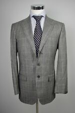 NWT SARTORIO BY KITON GLEN PLAID GRAY FLANNEL WOOL SUIT US38 40/EU48 ISAIA
