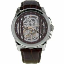 cfad41a6a2d Kenneth Cole Men s Automatic Watch Stainless Steel Case With Brown Leather  Strap