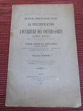RÉGLEMENTATION DE L'OUVERTURE DES COFFRES - FORTS APRES DÉCÈS 1920 ( ref 46 )