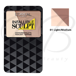 L'OREAL Infallible Sculpt Contouring Highlighter Palette - 01 Light/Medium *NEW*