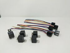 5Pcs Dc 12V Car Spdt Automotive Relay 4 Pin 4 Wires w/Harness Socket 30/40 Amp