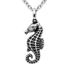 Mini Seahorse Necklace Ocean Animal Pendant Swarovski Crystals Jewerly Controse