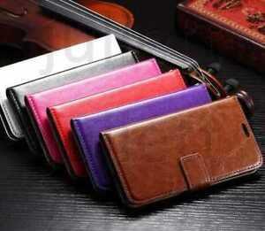 Red Purple Pink Leather Wallet Flip Case Cover For iPhone 6 Plus / 6s Plus / 6+