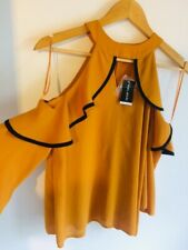 New with tags Select mustard yellow Top size 6