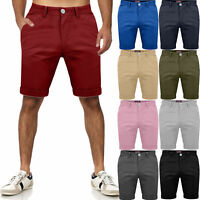 Mens Chino Shorts Cotton Combat Half Pant Casual Summer Cargo Jeans Casual 30-42