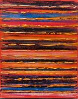 Original abstract painting textured 8X10 canvas oil pastels acrylic contemporary