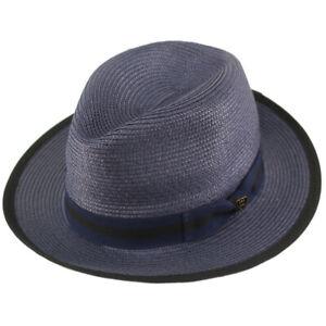"Dapper Men's Summer Light Panama Derby Fedora Wide 2-1/4"" Brim Sun Hat"