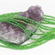 100 pcs 3x2mm Chinese Crystal Glass Beads Faceted Rondelle Grass Green Quartz AB