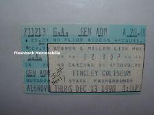 ZZ TOP 1990 Concert Ticket Stub TINGLEY COLISEUM Albuquerque NM JEFF HEALY Rare