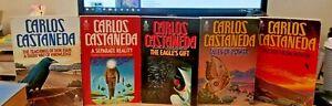 Carlos Castaneda - 5 assorted titles - Teachings of Don Juan, etc.