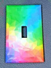 Brand New Mosaic Rainbow Handmade Custom Light Switch Wall Plate Cover