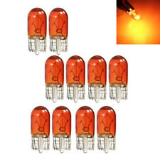 10PCS T10 501 W5W Bulbs Lamp for Instrument Gauge Cluster Dash Light Amber
