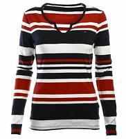 Tommy Hilfiger Damen Langarm T-Shirt, Baumwolle T-Shirt, Alle Großen