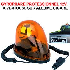 PROMO! PETIT GYROPHARE 12V ORANGE A VENTOUSE! 4X4 PATROL RANGE HILUX DEPANNEUR