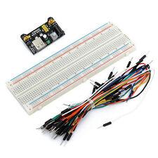 Breadboard MB-102 + Netzteil Adapter Modul + 65 flexible Steckbrücken - Arduino