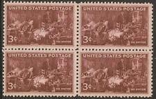 US 949 Doctors 3c block (4 stamps) MNH 1947
