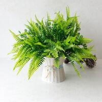 7 Branches Artificial Boston Fern Bouquet Plastic Artificial Plants Home De GF