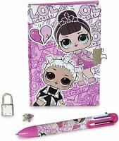 LOL Surprise Girls Diary Journal Notebook Secret Keeper With Lock Key Gift Pen