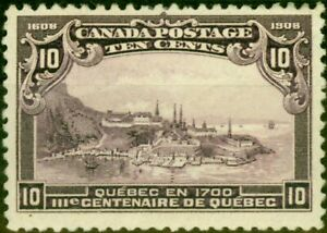 Canada 1908 10c Violet SG193 Mtd Mint