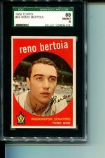 1959 TOPPS # 84 RENO BERTOIA SENATORS SGC 88 NM/MT 8 TOUGH CARD SET BREAK