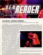 R.E.M. Fanclub Reader Athens Homecoming