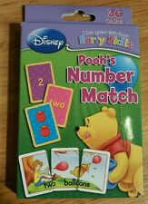 DISNEY POOH'S NUMBER MATCH EARLY SKILLS 2009 36 ILLUSTRATED CARDS 0 TO 10