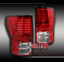 07-13 TOYOTA TUNDRA PICKUP TRUCK LED TAIL BRAKE LIGHTS RED/CLEAR LEFT+RIGHT PAIR