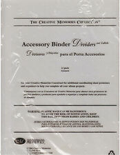 Creative Memories Accessory Binder Dividers and Labels 6 in Pkg New Sealed