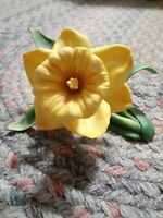 LENOX Yellow Daffodil Fine Porcelain Handcrafted Garden Flower Collectible 1989