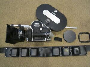ARRIFLEX 16MM MOVIE CAMERA, MOTOR, MATTE BOX, 400FT MAGAZINE SUPER NICE!