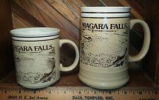 NIAGARA FALLS ONTARIO CANADA Vintage Souvenir Mug lot of 2