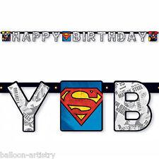 3.2 m DC Fumetti Superman Supereroe Bambini Festa COMPLEANNO LETTERA Banner
