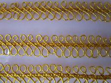 2 METER Borte Spitze Nichtelastisch Gold 1cm elegante top mode