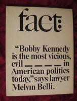 FACT July August 1964 Melvin Belli Warren Boroson J W Ehrlich David Horowitz