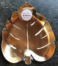8 doré brillant Feuille de palmier Assiettes Fête TROPICAL HAWAIIAN thème joli